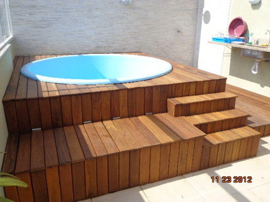 piscina pequena com hidromassagem - Pesquisa do Google Piscinas ...