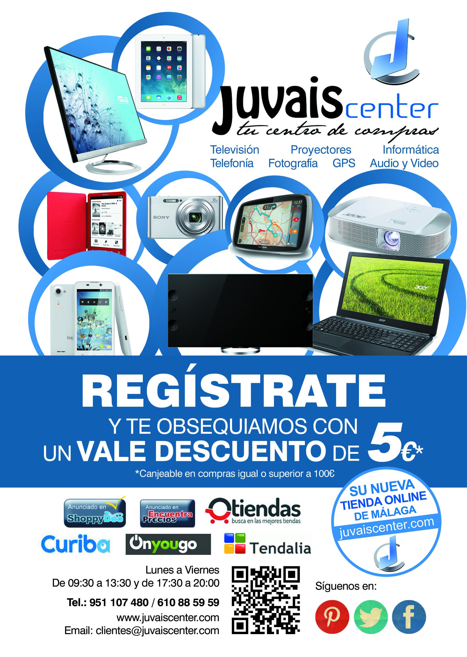 Registrate y te OBSEQUIAMOS con un vale descuento de 5€ Conseguirás información de grandes ofertas !! COMPARTE CON TUS AMIGOS