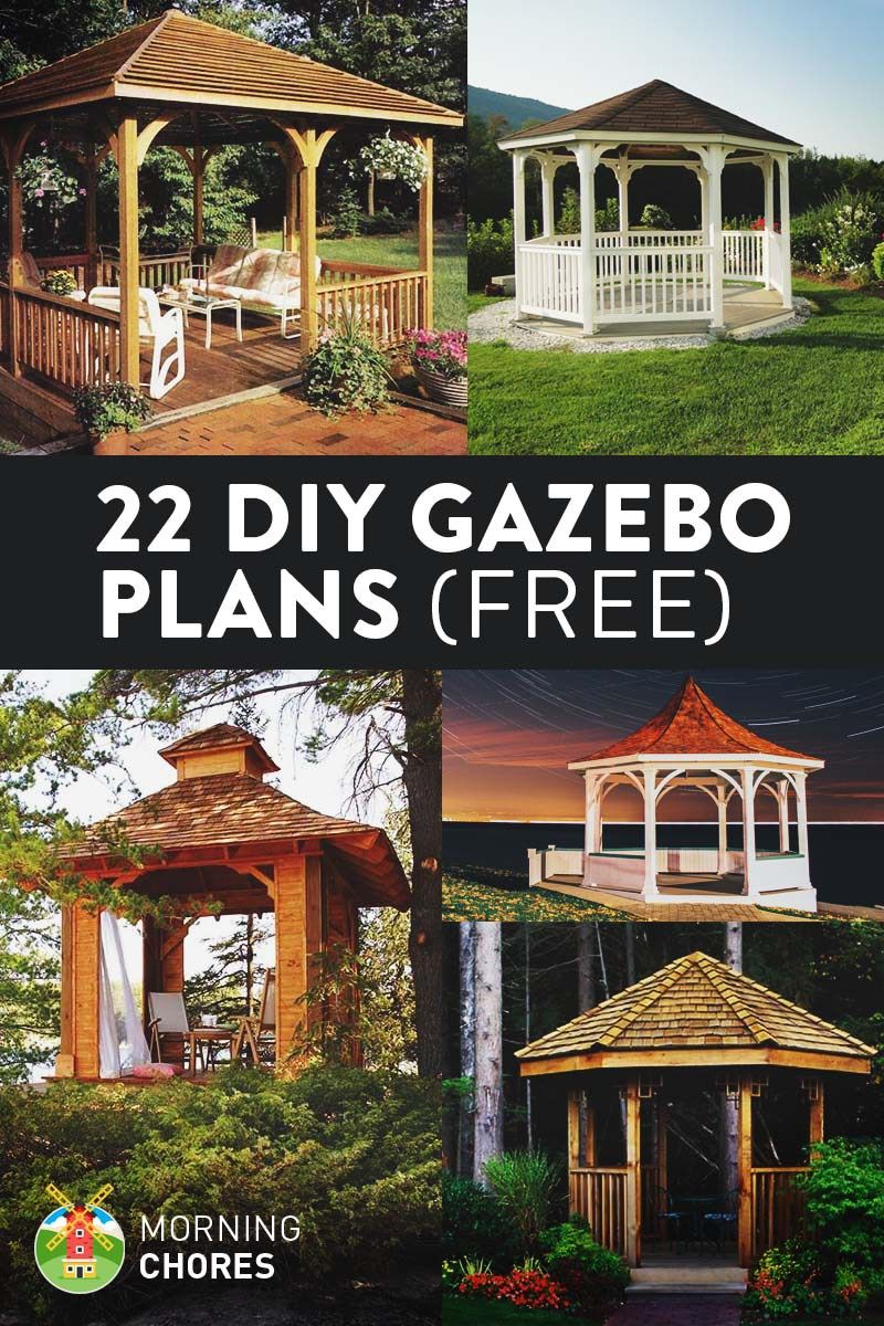 22 Free DIY Gazebo Plans & Ideas to Build with Step-by-Step ... Embly Home Double Wide Gazebo Design Html on