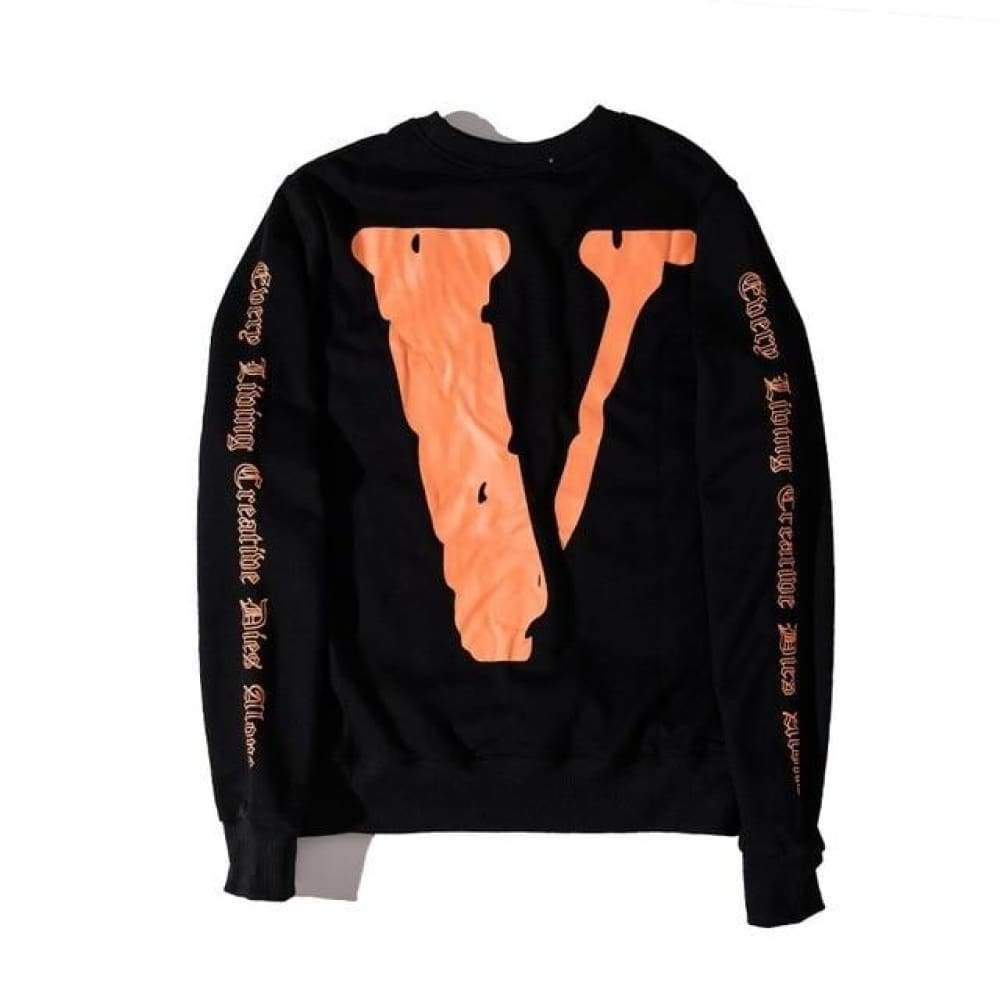 Off White X Vlone Sweatshirt, Size Large   Pullover