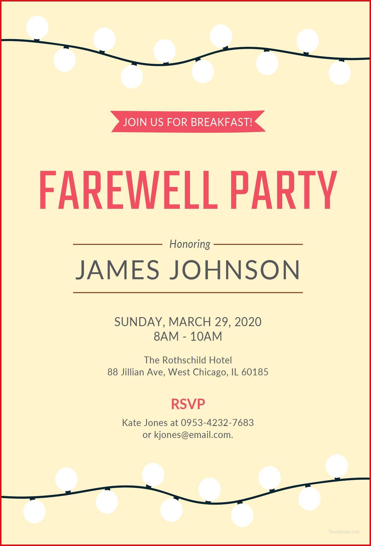 Farewell Party Invitation Wording Dengan Gambar
