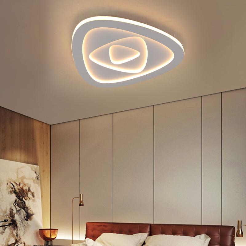 Modern Led Flush Mount Modern Triangle Shape Ceiling Light Living