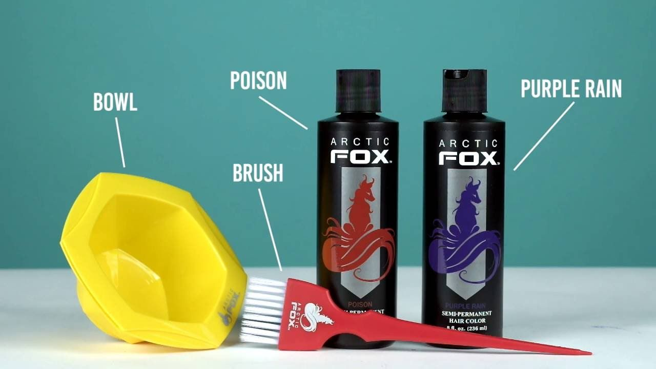Arctic Fox Hair Dye In Purple Rain Cruelty Free And Vegan Arctic Fox Hair Dye Bright Purple Hair Fox Hair Dye