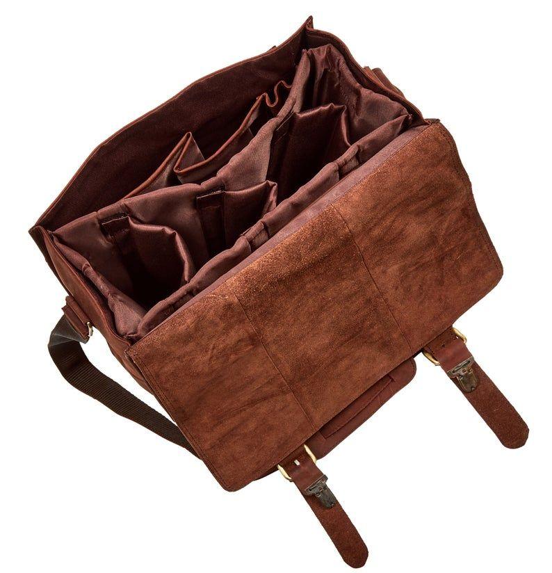 Leather DSLR Camera Bag vintage Shoulder Bag Messenger