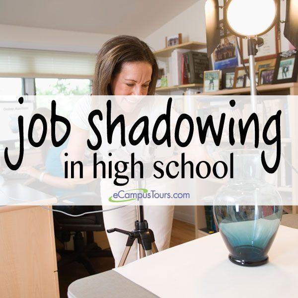 job shadowing in high school #jobshadowing | Career Exploration ...