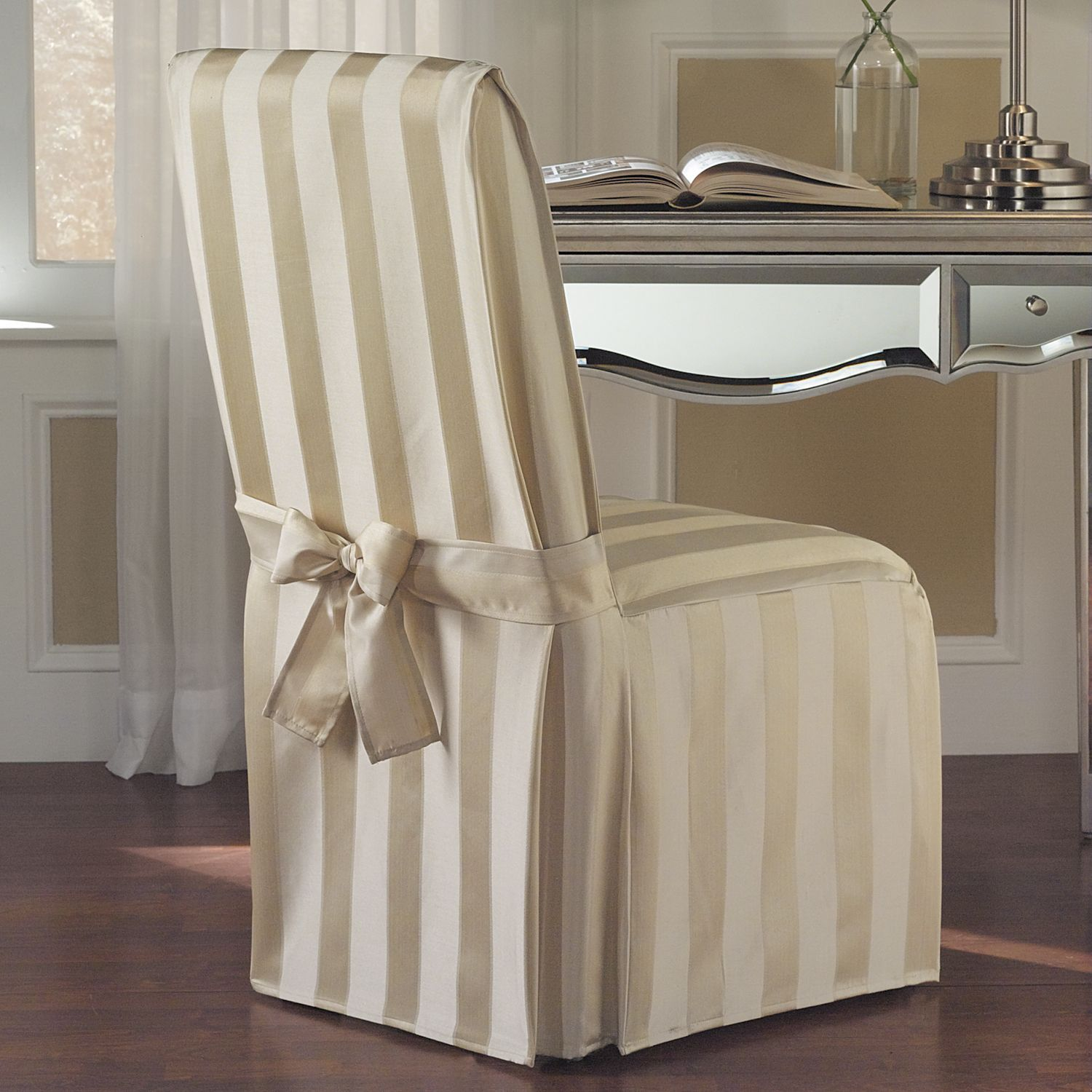 United Curtain Madison Dining Room Chair Cover 19 By 18 Gold