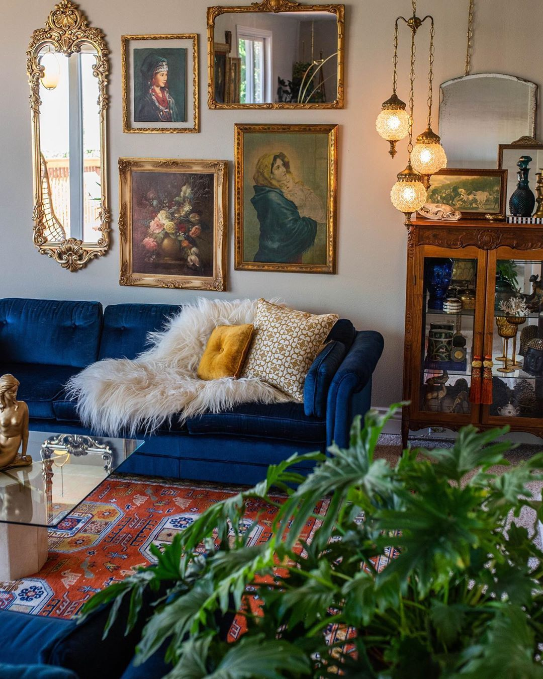 "Apartment Therapy on Instagram: ""Can you tell this home belongs to a vintage reseller? @msviciousdesign has filled her space with plenty of vintage treasures. She says,"