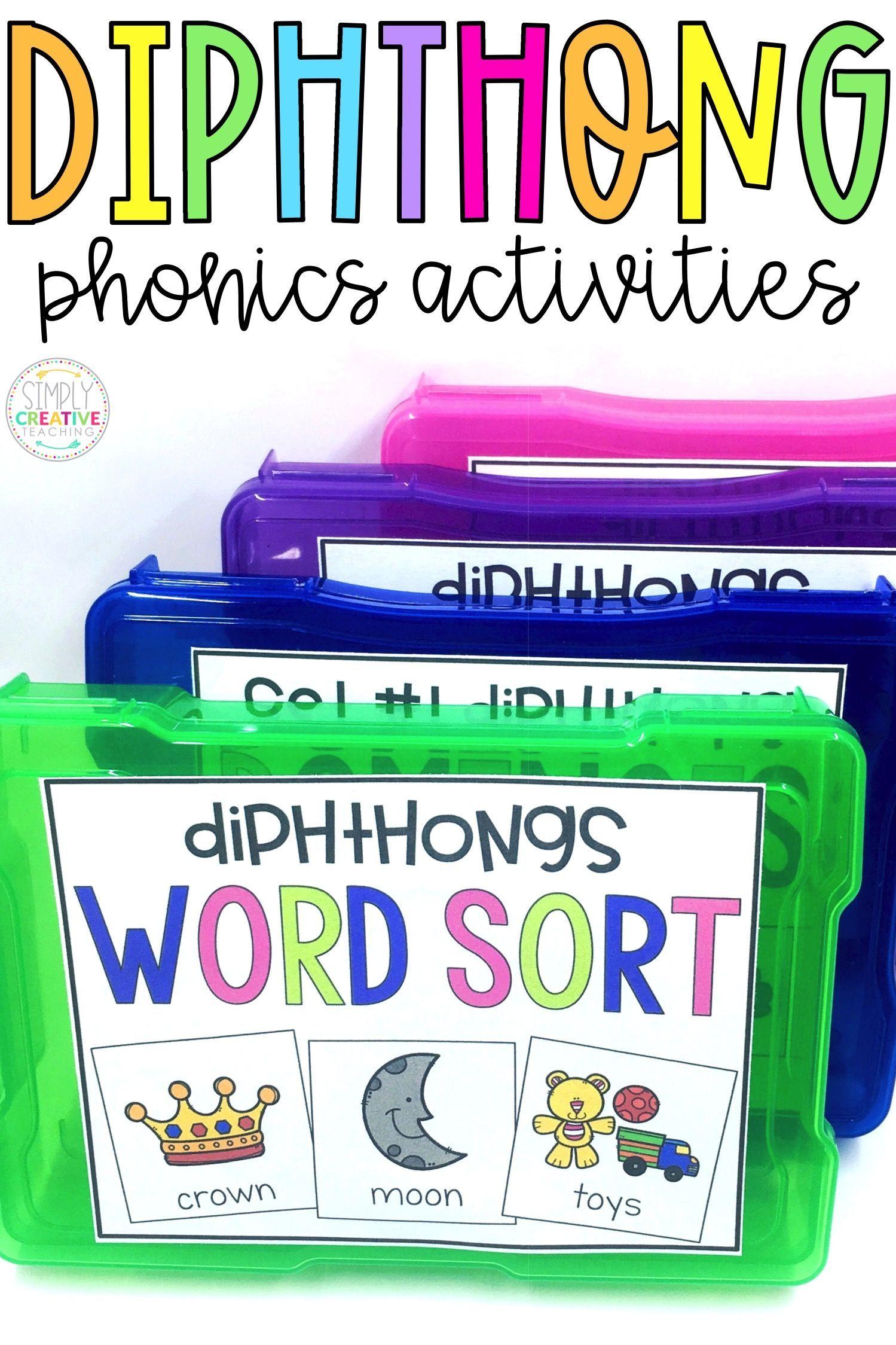 Diphthong Oi Oy Ew Oo Au Aw Ou Ow Word Work