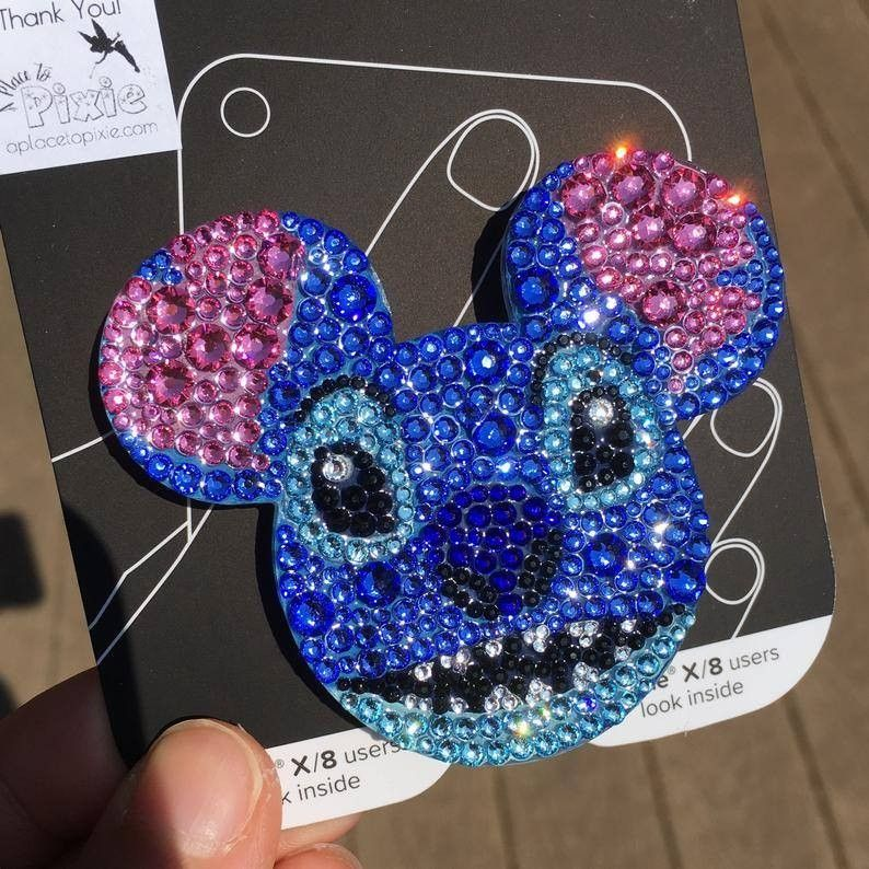 Fits Your Popsocket Pop Socket Disney Stitch Themed Decal Sticker Skin