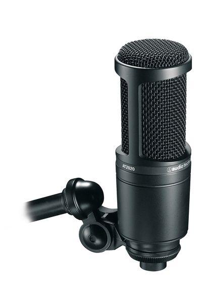 Audio Technica At2020 Cardioid Condenser Microphone Microphone For Recording Microphone Audio Technica