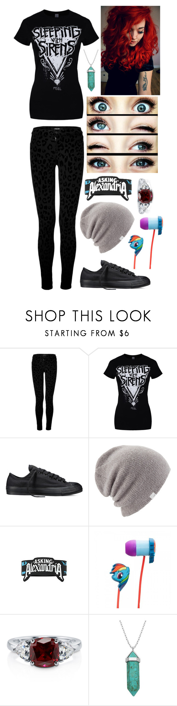 """Alyssa McAnderson"" by dreaming-of-death ❤ liked on Polyvore featuring J Brand, Converse, Coal, My Little Pony, BERRICLE, BEA and Lord & Taylor"