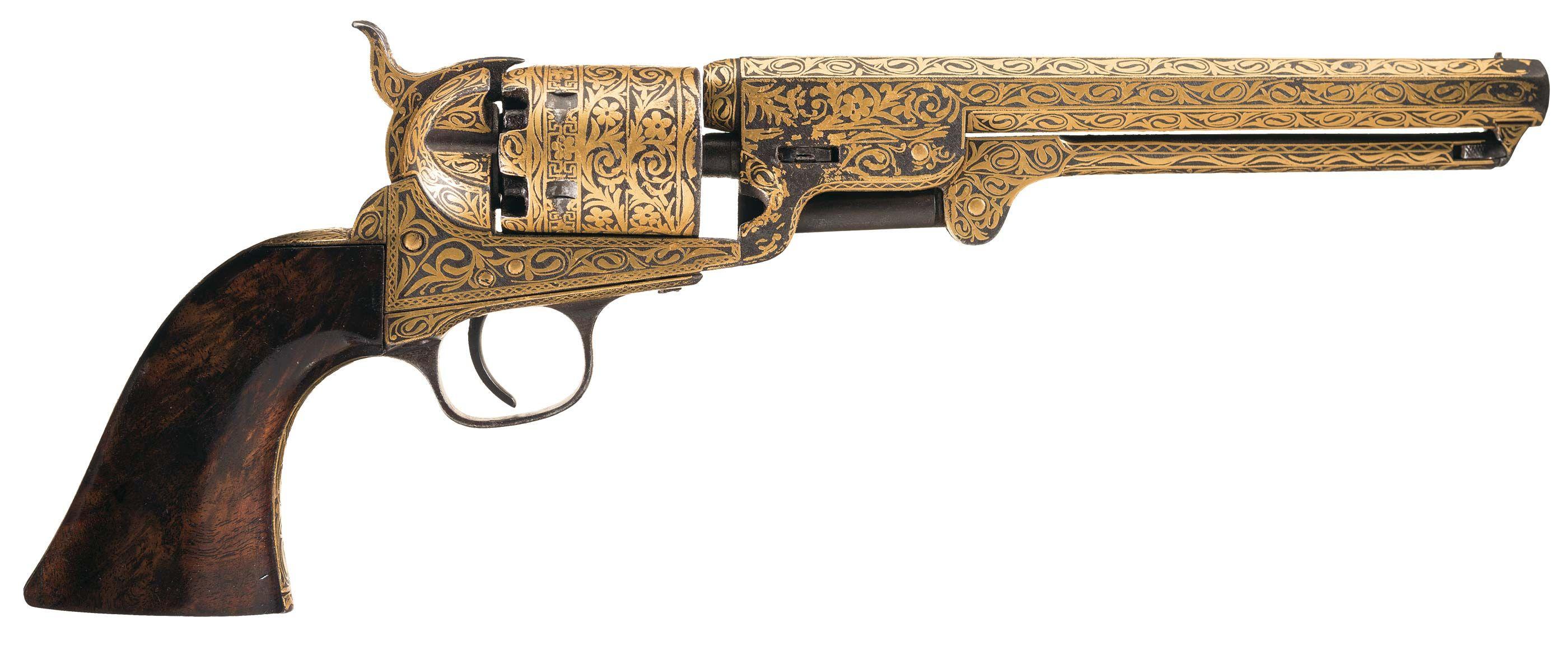Colt 1851 Navy with Gold Damascene Finish [2800x1155][OS][OC ...