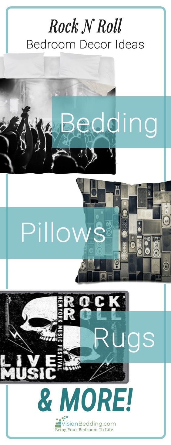 Cool rocknroll themed bedroom decorating ideas create  unique personalized for your entire from floor also rh pinterest
