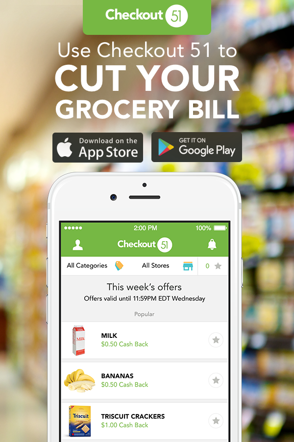 Checkout 51 is the free app that gives you cash for the groceries you already buy every week. Simply download the app, browse the offers, upload your receipts and get a check in the mail. Say goodbye to couponing and hello to Checkout 51!