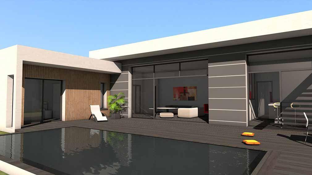 Maison contemporaine d\u0027architecte béton bois composite à Albi
