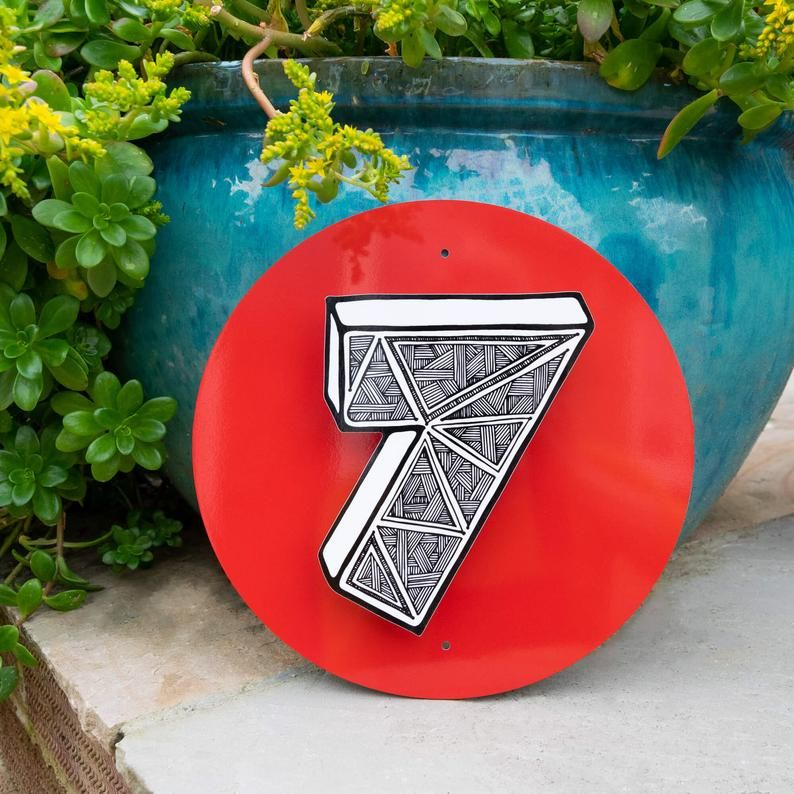Photo of Funky Quirky House Numbers on Plaque – MooksGoo – home decor – unique house numbers – coloured plaque – personalised house numbers