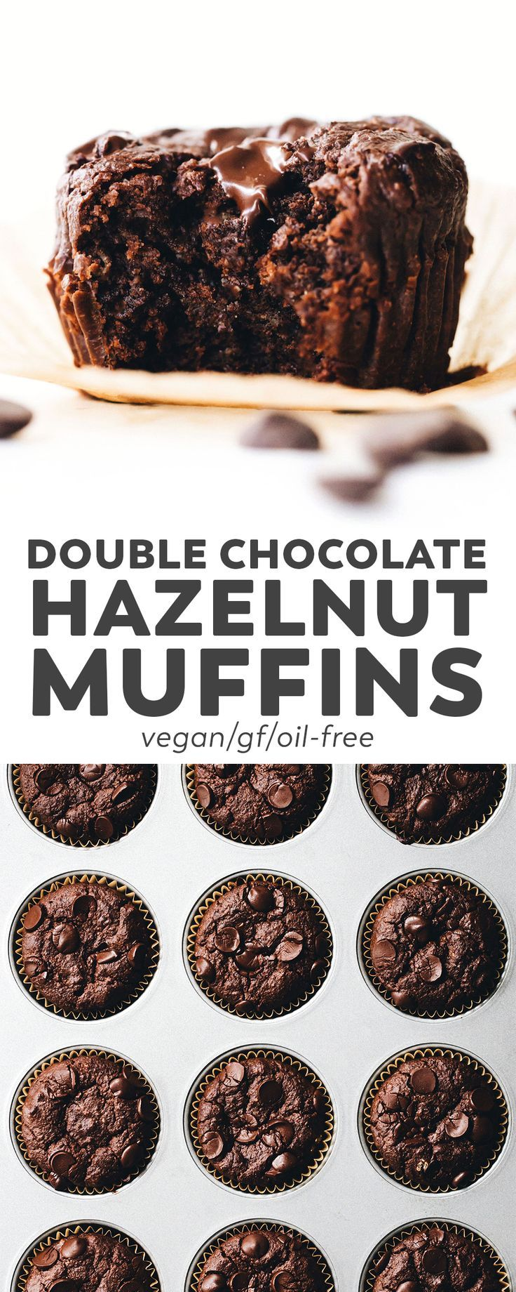 Double Chocolate Hazelnut Muffins (Vegan + GF)