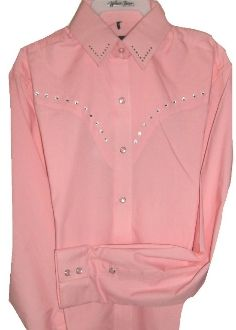 b346e554 This Ladies pink rhinestone western shirt is a great way to sparkle ...
