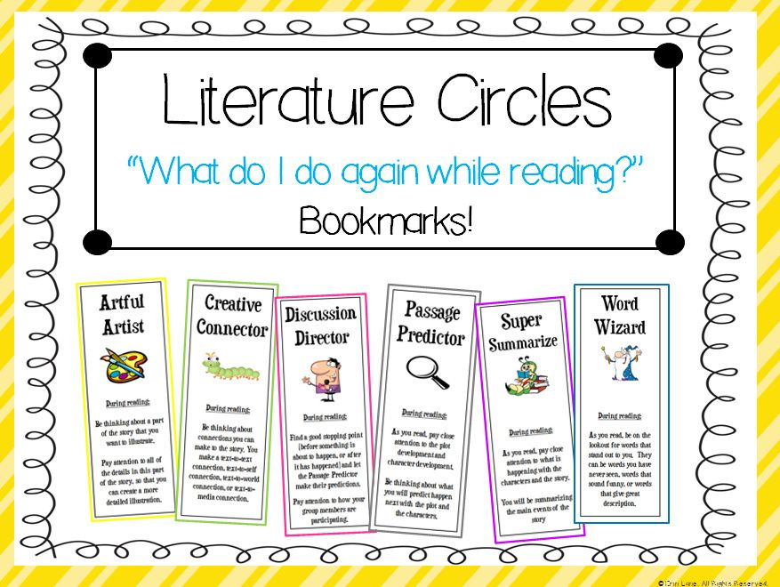 literature circles what am i supposed to do while reading bookmarks literature bookmarks. Black Bedroom Furniture Sets. Home Design Ideas