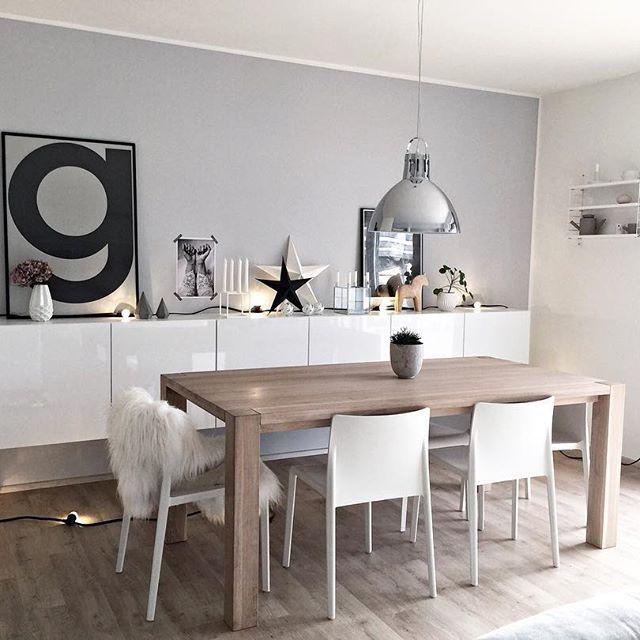 Inspiration #déco pour la salle à manger ! #décoration #gris #maison