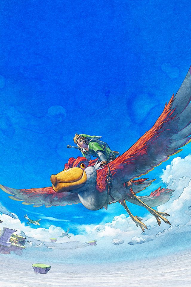 Legend Of Zelda Fly Parallax Hd Iphone Ipad Wallpaper Legend