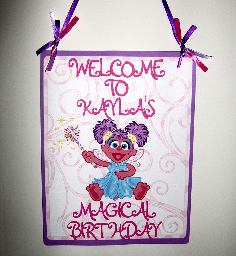 22nd Birthday Bash Abby And Brittany: Abby Cadabby Die Cut Door Sign