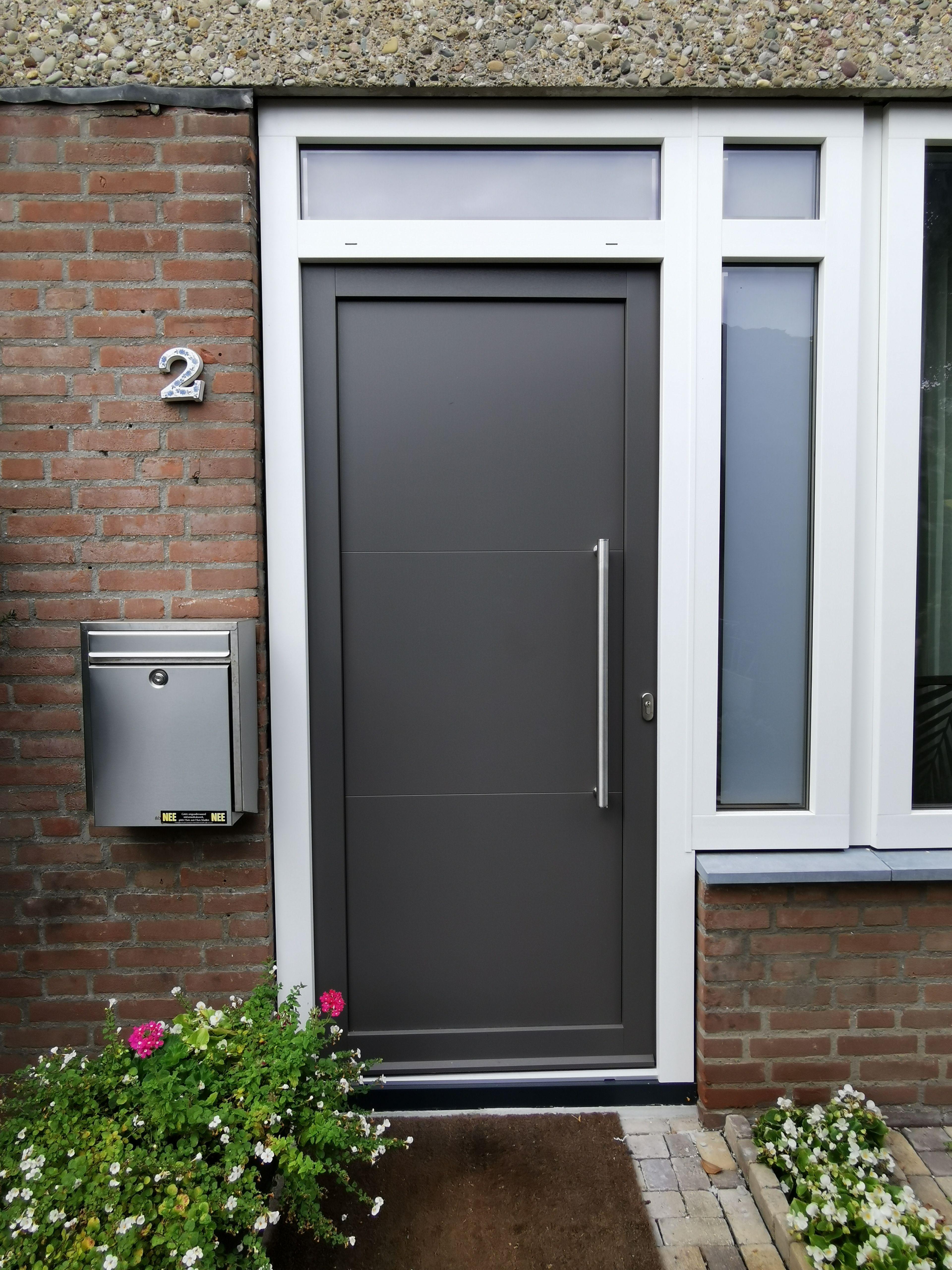 Kunststof Voordeur Rainure paneel met 2 groeven. Kleur F739 …