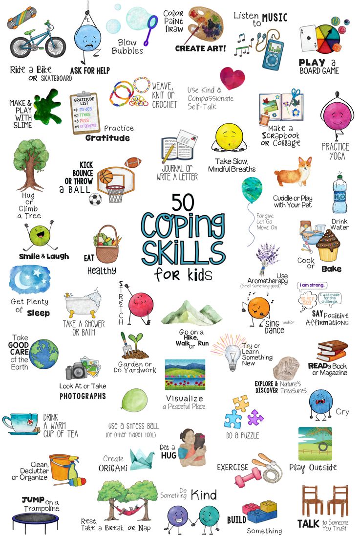 KIDS COPING SKILLS! School Counseling Lesson, Posters, Art ...