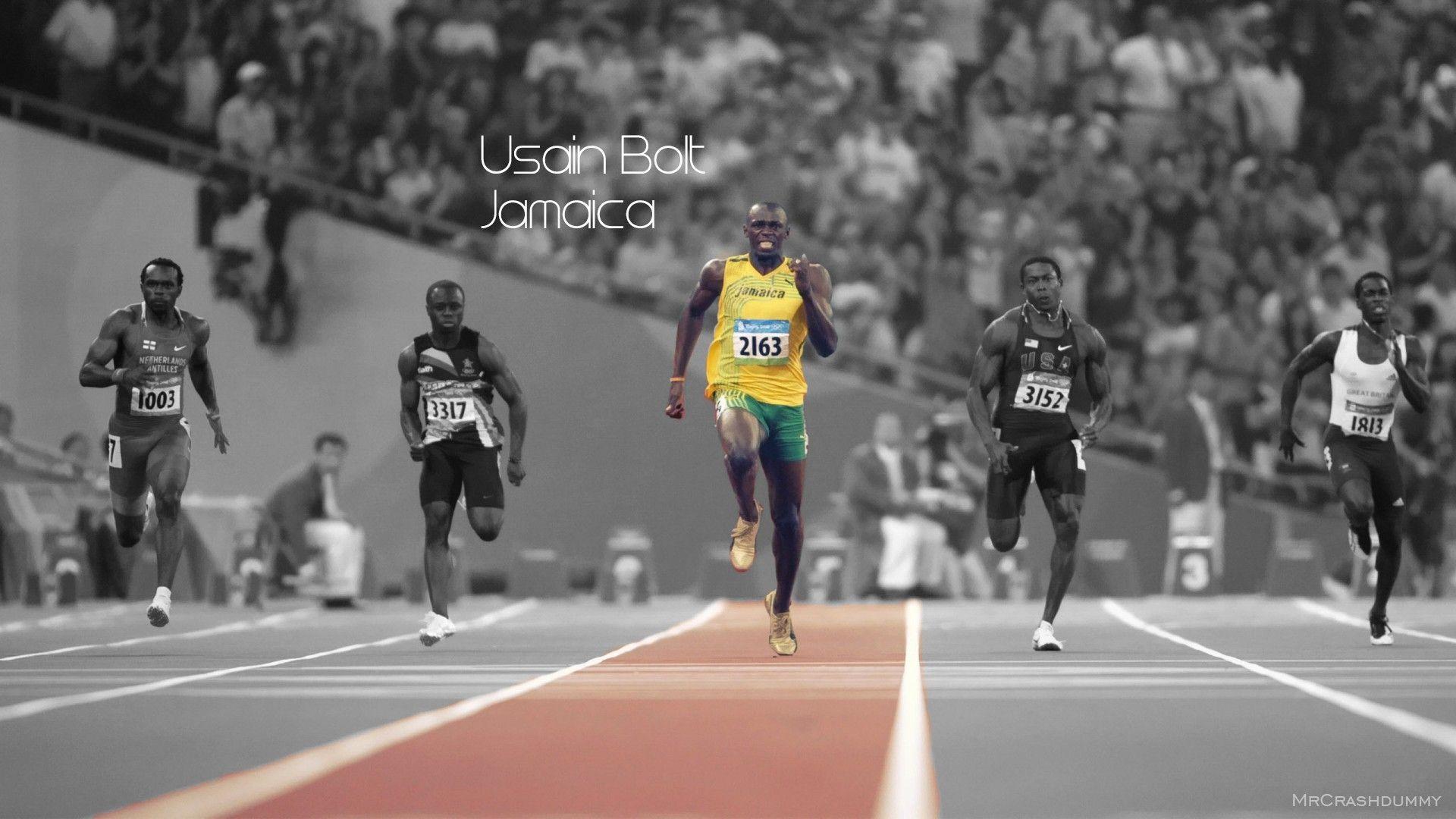 1920x1080 Usain Bolt Run Sprint Olympics Colorsplash Hd Wallpaper Usain Bolt Usain Bolt Running Usian Bolt