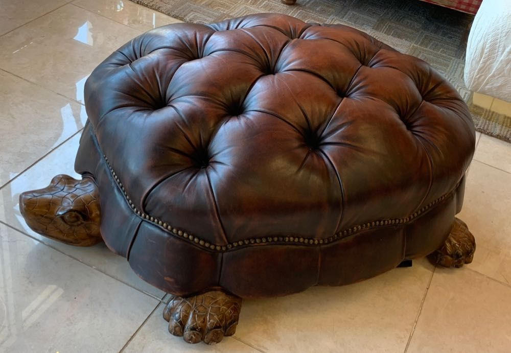 Giant Tortoise Ottoman From Councill