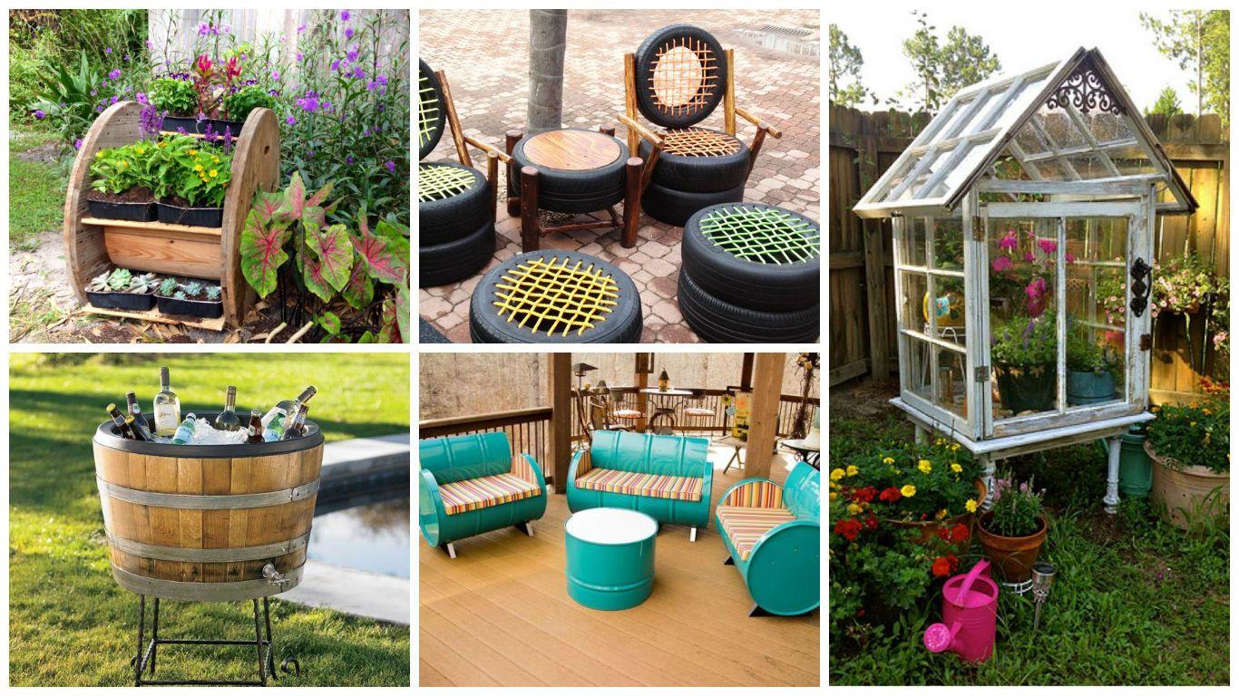 Načerpajte inšpirácie na recykláciu starých predmetov, ktoré dokonale zapadnú do vašej záhrady. Ušetríte peniaze a vašu záhradu, terasu alebo balkón bude zdobiť originálny predmet.