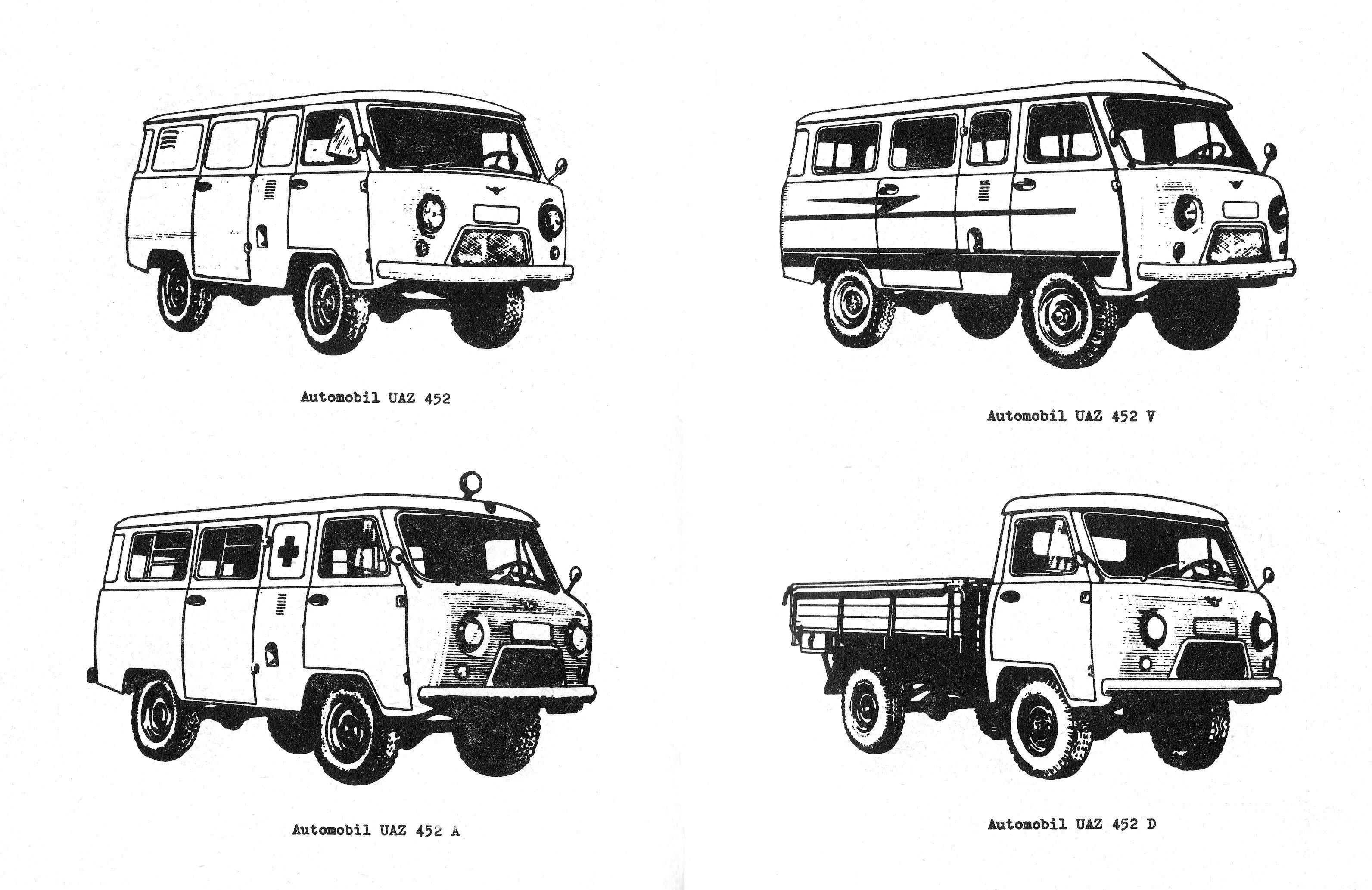 UAZ-452 (Loaf): photos and descriptions, specifications, dimensions 37