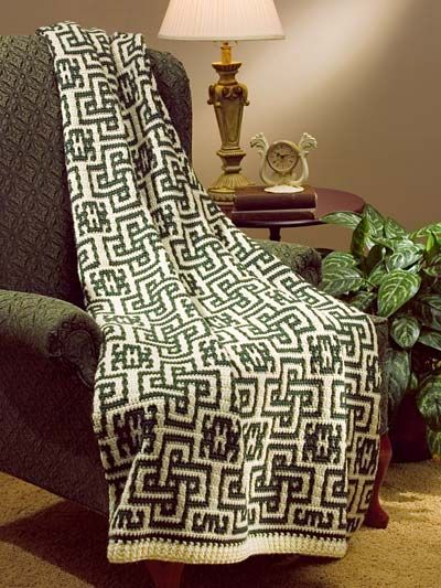 Mosaic Celtic Afghan ~ Annie\'s e-Patterns Central | Afghans ...