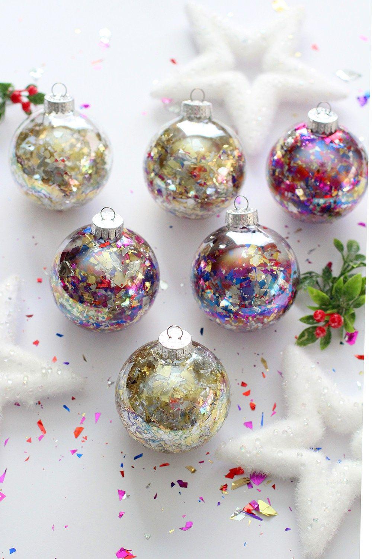 DIY Glitter Confetti Ornaments Confetti ornaments, Diy