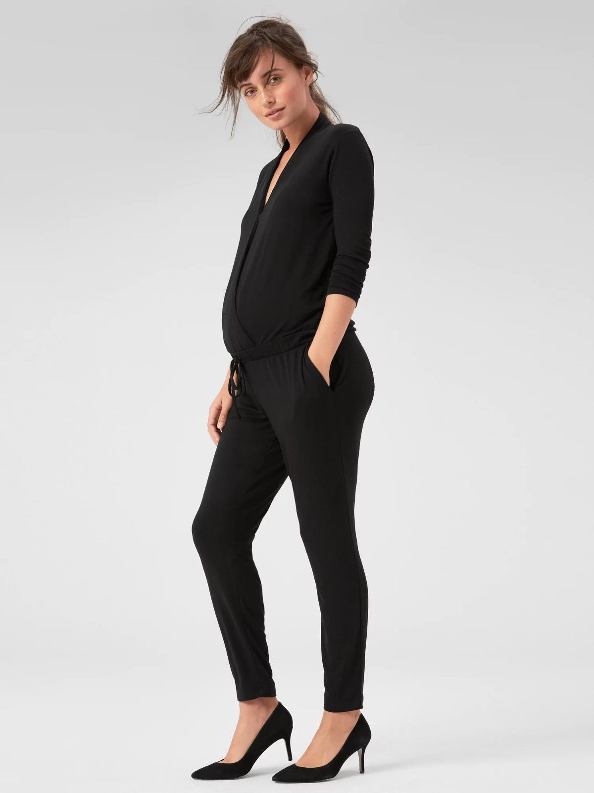 b707b4b0f43b Jumpsuits and Rompers 53447  Gap Maternity Long Sleeve Wrap Jumpsuit Nwt! S  Small -  BUY IT NOW ONLY   33.99 on  eBay  jumpsuits  rompers  maternity   sleeve ...