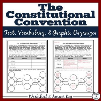 Constitutional Convention Worksheet With Images Informational