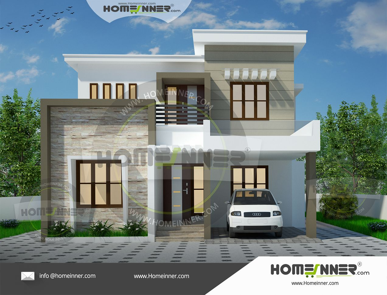 3 Bhk House Plans Under 2000 Sq Ft In India Duplex House Design Latest House Designs Kerala House Design