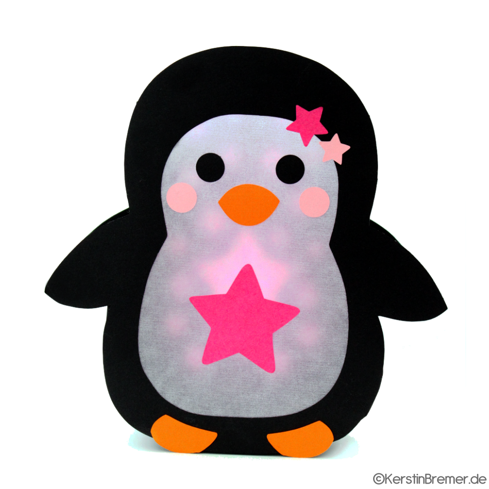 Plotterdatei Pinguin Laterne #laternebasteln