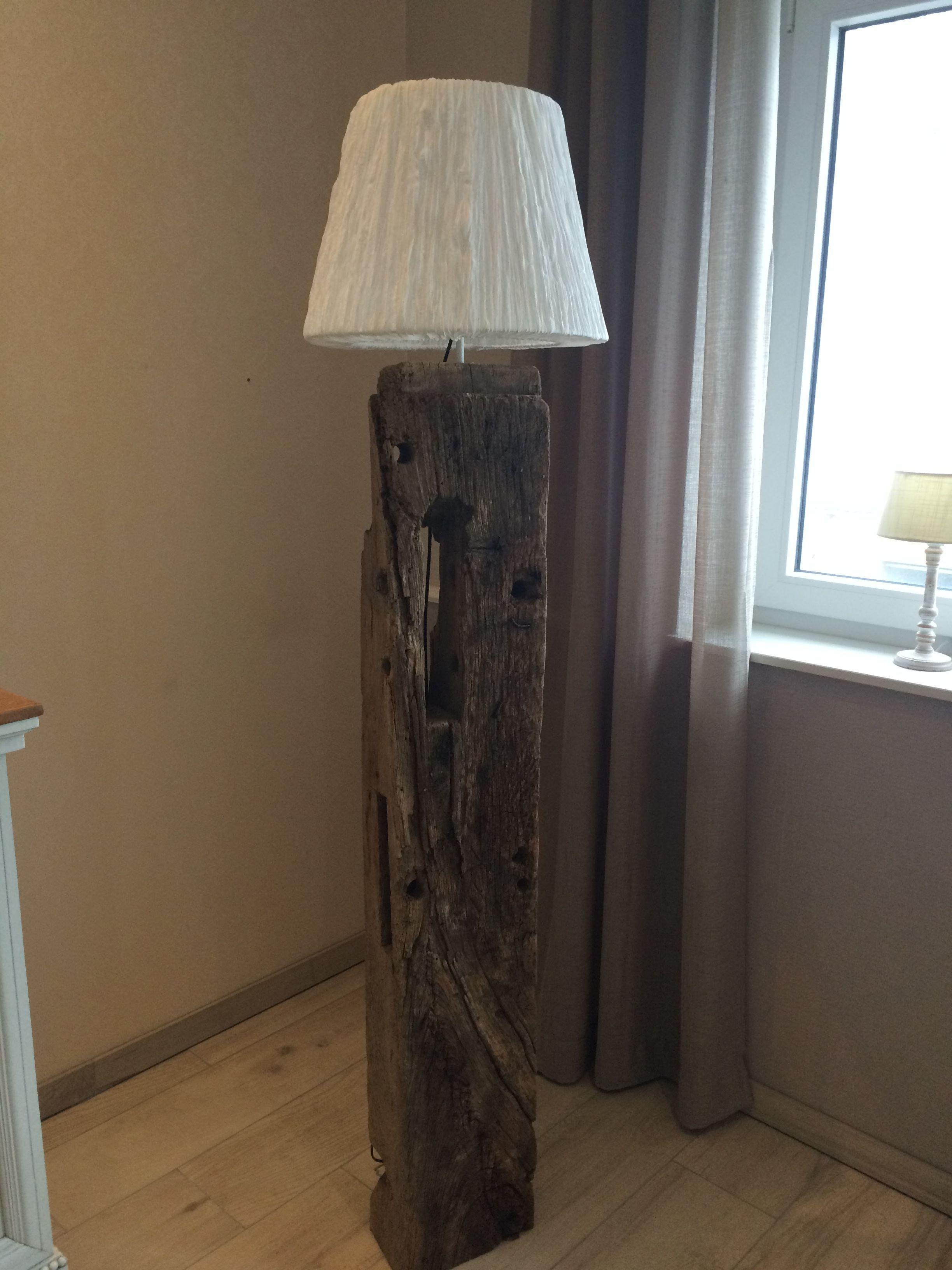 Stehlampe Aus Alten Fachwerk Selbst Gebaut Fachwerk Lampen