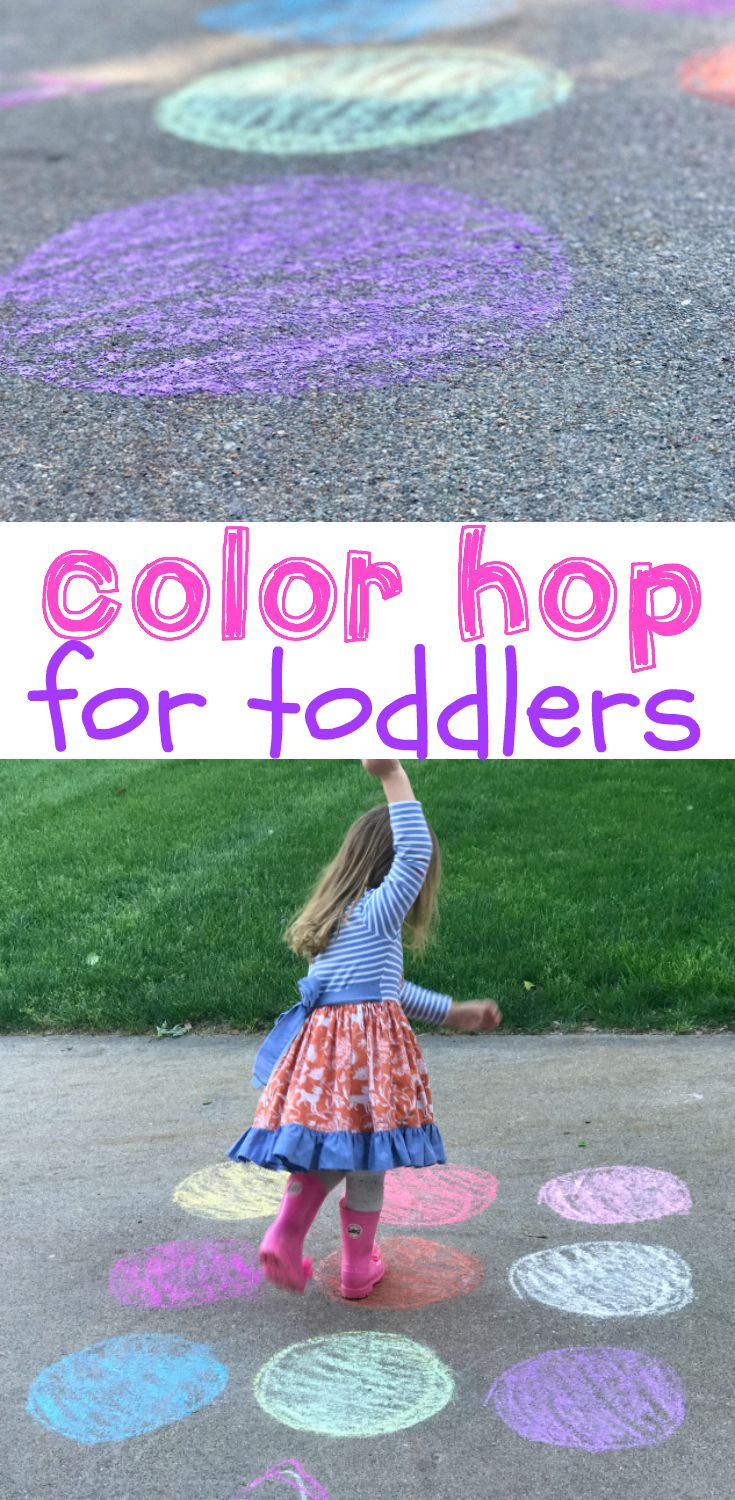 Color Hop for Toddlers | Outdoor toddler activities, Activities and ...