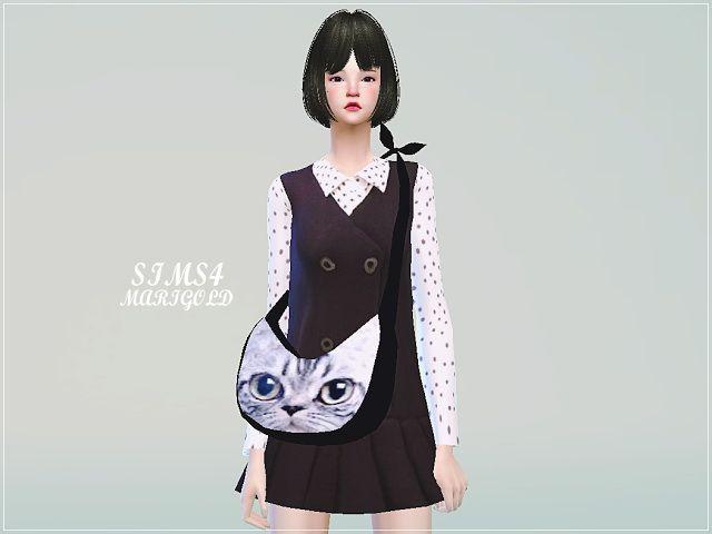 Crescent cross bag at Marigold • Sims 4 Updates | Sims 4 Stuff ...