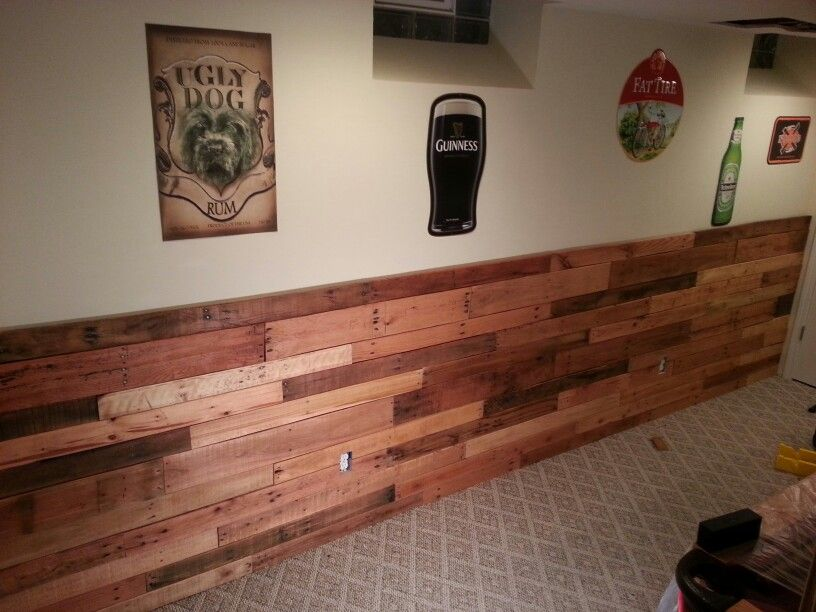 Pallet wainscoting wally 39 s projects pinterest for Using pallets for walls
