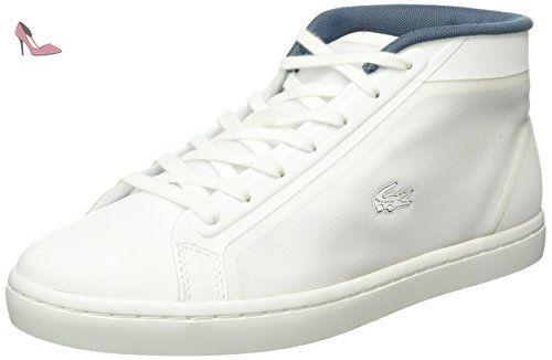 8888fa9a47 Lacoste Straightset Chukka 316 2, Baskets Basses Femme, Blanc-Weiß (Wht 001