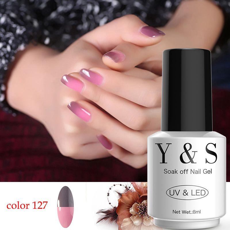 Y&S Nail Polish Brand Temperature Change Nail Gel Polish DIY Nail ...