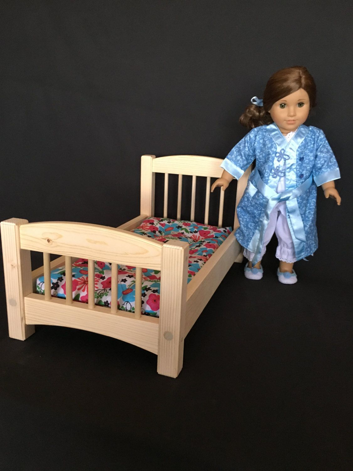 Standard Bed For American And All Other 18 Dolls Whitewood Unfinished
