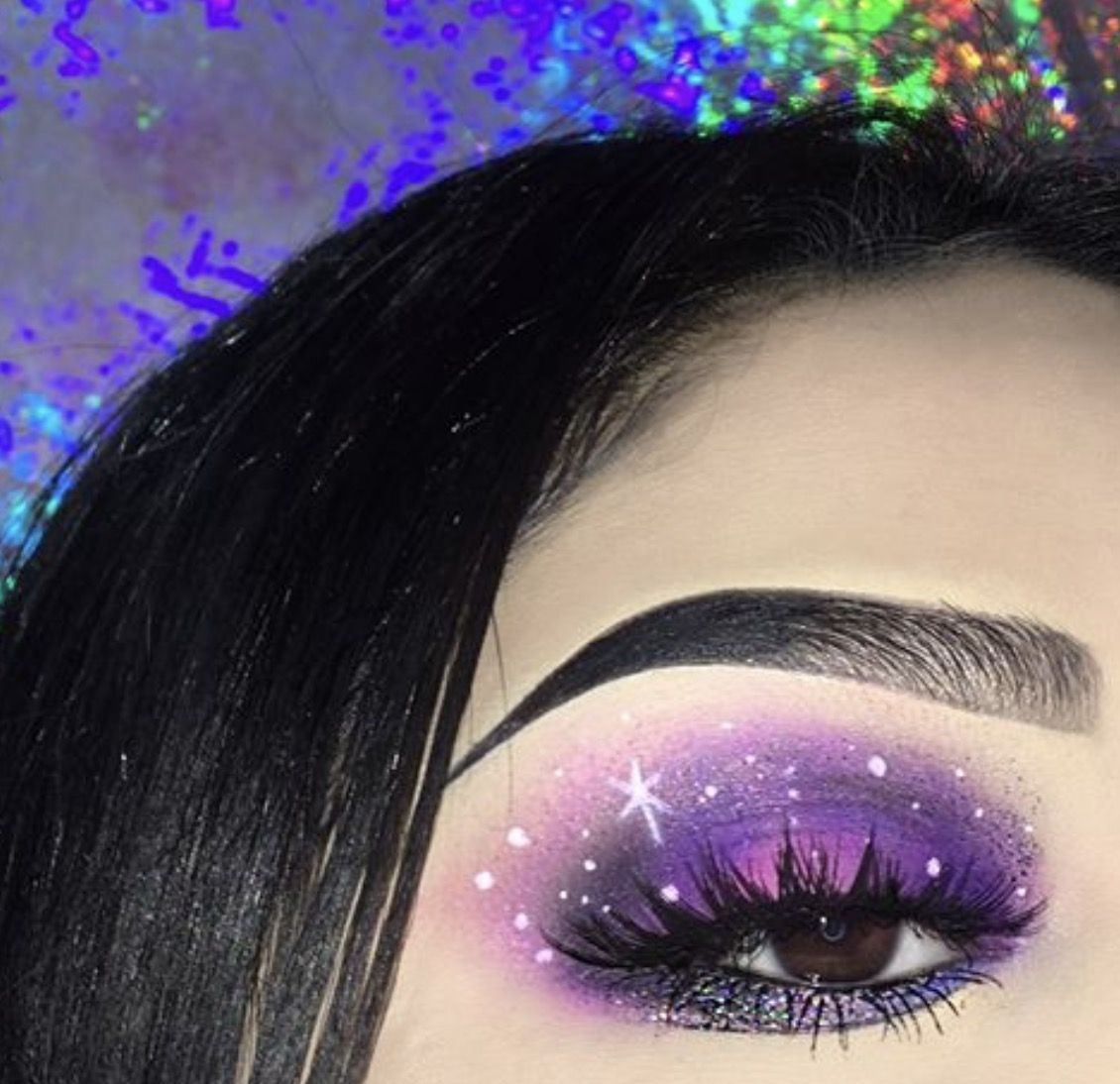 Purple Galaxy Eyeshadow Pinterest Edithh6606 Galaxy Makeup Makeup Looks Blue Eyes Eye Makeup Tips