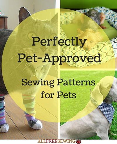16 Pet Sewing Patterns That Are Dog-Gone Purrfect | Sewing patterns ...