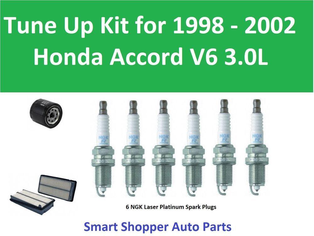 Tune Up1998 1999 2002 Honda Accord V6 3 0l Spark Plug Air Filter Oil Filter Partsmaster Honda Accord Spark Plug Honda Accord V6