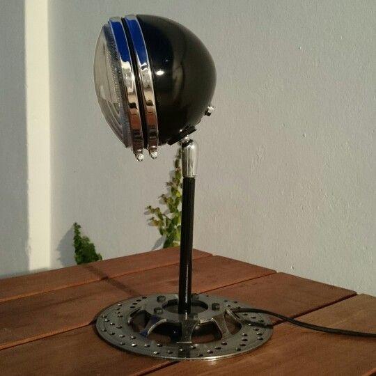 Lampara Reciclada De Partes De Motocicleta Lighting