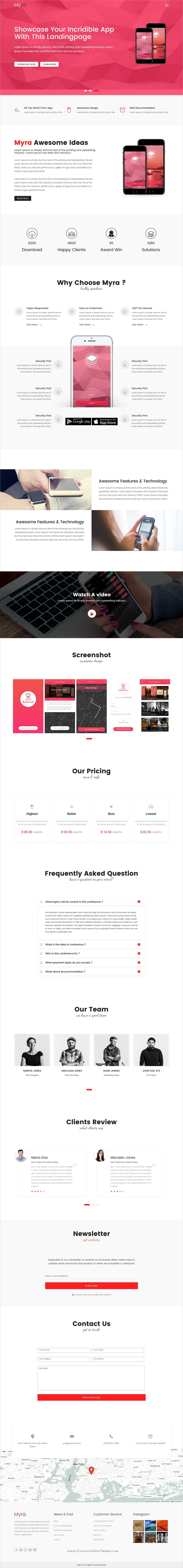 Myra - Multipurpose Minimal Landing Page Template | Minimal and ...